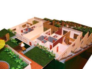 machetă 3D ansamblu rezidential