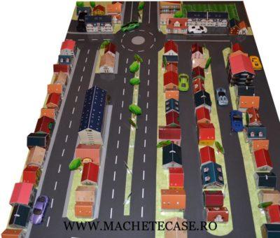 Machetă cartier pentru educație rutieră