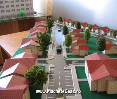 Proiect Casa Nouă – Machetă cartier de case