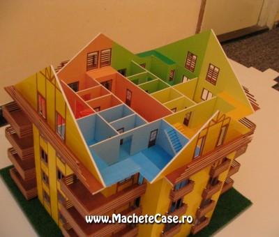 Bloc Kadna – Machetă bloc de locuințe cu interioare